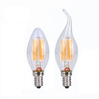 Wholesale E14 Led Cob Corn Bulb - High Bright Filament Dimmable 2W 4W 6W Led Candle bulb E27 E12 B22 E14 Led bulb lamp 120LM W Warm White led lights