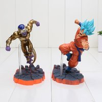 Wholesale Dragon Ball Freeza - 14cm Dragon Ball Z Super Saiyan Goku Son Freeza Freezer Ultimate Form Anime Combat Edition PVC Action Figure Toys