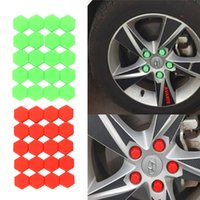 20pcs Car Styling Silica Gel Green Wheel Nuts Covers Protective Bolt car-styling Caps Hub Screw Protector 21mm parafusos