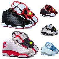 2017 New Air Retro 13 XIII Homens e mulheres Basketball Shoes Bred Brown Flints Hologram Grey Toe Athletics Sports Sneaker Qualidade impulso