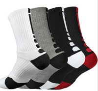 Wholesale Thermals Wholesale Usa - USA Professional Elite Basketball Socks Long Knee Athletic Sport Socks Men Fashion Compression Thermal Winter Socks A057