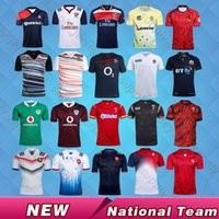 Wholesale Australia Army - free shipping 17 18 France England Scotland Wales Spain rugby jersey 2017 home rugby shirts Australia Ireland jerseys Best quality S~XXXL