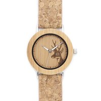 Wholesale Novelty Watches For Women - 2017 Novelty Wooden Watches Wood Dial With Elk Pattern Genuine Leather Automatic Watches AAA Watches For Men And Women SY-WD234