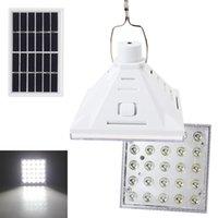 baterias de alta capacidade solar venda por atacado-25 LED Portátil Movido A Energia Solar Ao Ar Livre Camping Yard Lâmpada de Emergência Luz Noturna de Alta Capacidade de Bateria Recarregável LEG_21G
