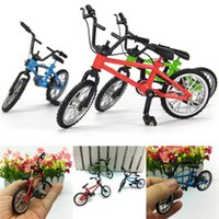 Wholesale Bike Bicycle Kid - Wholesale-YLHTOYS Baby Toys Small Bike Alloy Plastic Scale Model Miniature Diecast Bicycle Craft Desktop Display Home Decoration Kid Toy