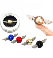 sports metals - New metal fidget spinner Harry Potter Golden Snitch Gyro Torqbar Hand Spinner Fingertip EDC For Kids Adults Decompression Toys