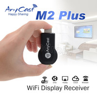 wifi inalámbrico para tableta pc al por mayor-AnyCast M2 Plus Airplay 1080P WiFi WiFi TV TV Dongle receptor HDMI TV Stick DLNA Miracast para Tablet PC Teléfonos inteligentes Mejor ezCast