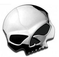 Wholesale Cars 68 - 3D 68*70mm Skull Metal Skeleton skull Car Motorcycle Sticker Label Skull Emblem Badge car styling stickers accessories decal