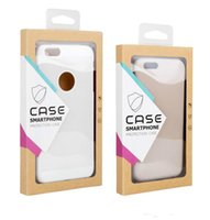 Wholesale Generic Cell - Fashion simple design Universal generic retail package box for iphone 6S 7 plus cell phone case kraft paper box packaging for phone covers