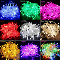 Wholesale waterproof male female connectors - 10m 20m 30m 100leds 200leds 300leds led String Lights christmas party decoration Fairy Light 110V 220V with female male connector