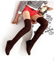 Wholesale Wedges Low Price - wholesaler free shipping factory price hot seller Knee Boots Heel lifed Thigh-High Stretch FabricBoots Fashion Boots 072