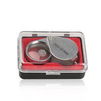 Wholesale foldable magnifier - Portable 20 x 21mm Jewelry Magnifying Glass 20X Foldable Magnifying Glass Magnifier for Jewelry Making Coins Brand Antiques