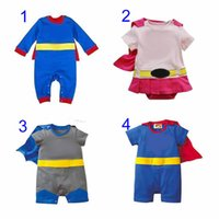 Wholesale Summer Romper Cartoon - Four Styles Baby One-Piece baby Rompers boys girls style Romper Girl Avengers Rompers Cartoon Clothes