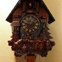carved cuckoo clock - Christmas christmas Resin hand carved wood cuckoo quartz clock watch the pastoral clock Cuckoo Clock halloween Halloween