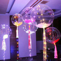 Wholesale Bright Party Supplies - 2017 Hot Luminous Led Transparent 3 Meters Balloon Flashing Wedding Party Decorations Holiday Supplies Color Luminous Balloons Always Bright