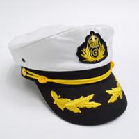 ordu moda erkek kap toptan satış-Erkekler Kadınlar için rahat Pamuk Deniz Kap Moda Kaptan 'ın Cap Üniforma Unisex GH-236 için Askeri Şapkalar Sailor Army Cap