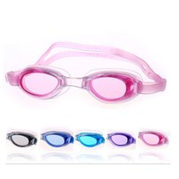 Wholesale Antifog Swimming Goggles - DHL free Swim glasses Children Kids Boys Girls Antifog Waterproof High Definition Swimming Goggles Diving Glasses With Earplugs Swim Eyewear