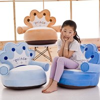 Wholesale Fashion Crown Design Baby Chair Cute Baby Sofa With Armchair Play Game Seat Chair Portable Children Chair