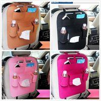 multi-car-halter großhandel-7 Farben kinder Auto Autositz Organizer Halter Multi-Pocket Reise Aufbewahrungstasche Kleiderbügel Rücksitz Organisieren Box JC306