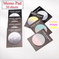 Wholesale Shape Sticky Note Pad - Wholesale- 1pcs 30 Sheets Kawaii Korean Cute Neptune Sedna Stickers Round Shape Memo Pad Sticky Notes Bookmarks Stationery stickers 01887