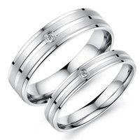 Fashion Day Jewelry Couple Sweet Love Simple Love Band Plata Anillo de acero inoxidable para hombres Mujeres