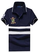 kaufen sommer freizeithemden großhandel-Preiswert Kaufen Amerikanische Entwurfs-Sommer-neue Mann-beiläufige Polo-Hemd-Freizeit-klassische Polo-Hemden der Oberseiten freies Verschiffen