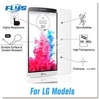 Wholesale Lg Spirit Glass - For LG Avisto G6 V20 V10 C40 K10 K7 G5 G4 Zone Zero Spirit clear film Tempered Glass Screen Protector Flim 2.5D 9H Premium Opp Package
