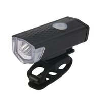 Wholesale Front Bike Light Usb - USB Rechargeable Bike Head   Front White Light Lamp Black Bicycle Cycling new arrival
