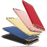 huawei gold achat en gros de-Pour Huawei P10 P10 Plus housse d'origine Pour Huawei p10 plus affaire joint luxe joint dur affaire capa coque fond bleu