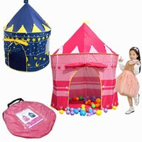 Wholesale Seasoning Case - Children Play Tent Girls Castle Princess Castle for Indoor Outdoor Pop-Up Castle Foldable with Carry Case