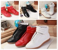 Wholesale Drop Shipping Name Brand - Free Shipping Name Brand Maison Martin Margiela Casual Shoe Man Boot Fashion Designer High Top Leather Cheap Sneaker Shoes Size 46 Drop Ship