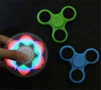 Optionale LED-Handspinner 4/5/18 verschiedene Blitzmodi Ich liebe dich Fidget Spinner Lightwith Switch-Taste Plating 4 Farbe Hand Spinner