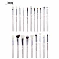 Wholesale makeup jessup brush set for sale - Group buy 2017 Jessup Brushes Pearl White Silver Professional Makeup Brushes Set Cosmetics Brush Tools Kit Foundation Powder Brushes T245