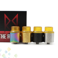 The Recoil V2 RDA Recoil 2.0 Atomizer 24MM 4 couleurs Peek isolateurs avec PEI Drip Tip adapter 510 E Cigarette DHL Free