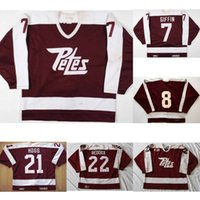 Personalizado OHL Peterborough Petes Jersey 7 Rob Giffin 8 Tie Domi 21 Steve Hogg Hombres Mujeres Niños cosido Red Hockey Jerseys Goalit Cut