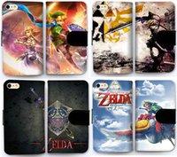 Wholesale Iphone Zelda - Pattern Flip Leather Wallet Case DIY Customize Phone Shell Cover for iPhone 5S SE Legend of Zelda