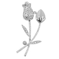Children's orchid brooch - Orchid flower crystal brooches exquisite high quality hot sell new design cat eye stone elegant fashion concise classic pin brooches GLN080
