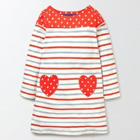 Wholesale Stylish Dresses For Girls - Princess Dress for Girl Stylish Long Sleeve Dress Unicorn Appliqued Cotton Baby Girl Clothing Baby Clothing Cute Kids Dress