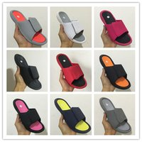 Vente en gros Air Retro 6 VI pantoufles 6s rouge Slide sandales Hydro beach outdoor hommes chaussures occasionnels Sports 4 5-13 baskets taille 36-47