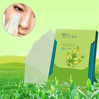 Wholesale 1 Sheets Oil Absorbing Blotting Face Clean Paper Green Tea Scent Makeup Tool Prevent Blackhead Facial Tissue Face oil absorbing Paper