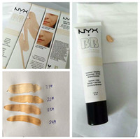 Wholesale Naked Skin Bb Cream - NYX Concealer BB Cream 30g Moisturizing Foundation 4 Color Naked Makeup Base Isolation Body Concealer Cream Beauty Product