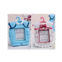 baby blaues bild großhandel-Rosa blau kleiner Bilderrahmen Resin Baby Kleidung Muster Baby Bilderrahmen beste Geschenke Home Decor