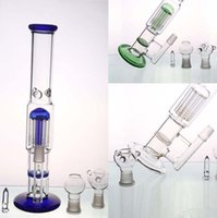 Wholesale Cheap Glass Water Bongs - Cheap Smoking Bongs Honeycomb Percolator and Umbrella Percolator Water Pipes Tall 29 cm With 18.8mm Oil Rigs Glass Hookahs