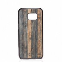 Wholesale Covers For Galaxy S4 Wood - Wooden Wood Design Covers Shells Hard Plastic Cases For Samsung Galaxy S4 S5 MINI S6 S7 edge S8 S8 Plus