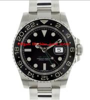 Wholesale Deep Bezel - New Luxury Brand GMT 116710 Watch Ceramic Bezel Black Dial Mens Watch SEA DWELLER Deep OYSTER DATE Automatic Men's watches Master