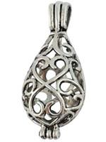 prata filigrana medalhão venda por atacado-10 Pcs Prata Tibetana Filigrana Medalhão Oval Pingentes A16559