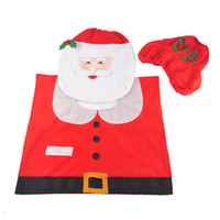 Wholesale Acrylic Bathroom Set - Santa Claus Toilet Seat Cover and Rug Bathroom Set Contour Rug Christmas Decorations for Home Papai Noel Navidad Decoracion 0708037