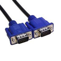 1,5 mm kablo toptan satış-1.5 M 5FT 15 PIN 3 + 5 VGA SVGA HDB15 OD5.5 MM SÜPER VGA SVGA M / M Erkek Erkek IÇIN Bağlayıcı Kablo Kordon Uzatma Monitör Projektör