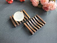 Wholesale Plate Dish Holder - Vintage Wooden Soap Dish Plate Tray Holder Box Case Shower Hand washing DHL Free Shipping wa3928