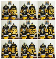 Jerseys de hockey sobre hielo de los Pittsburgh Penguins 87 Sidney Crosby 81 Phil Kessel 71 Evgeni Malkin 72 Patric Hornqvist Cheap jeerseys de hockey